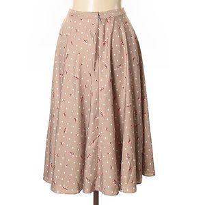 eva mendes for New York & Company Skirts - Eva Mendes beige coral full skater skirt